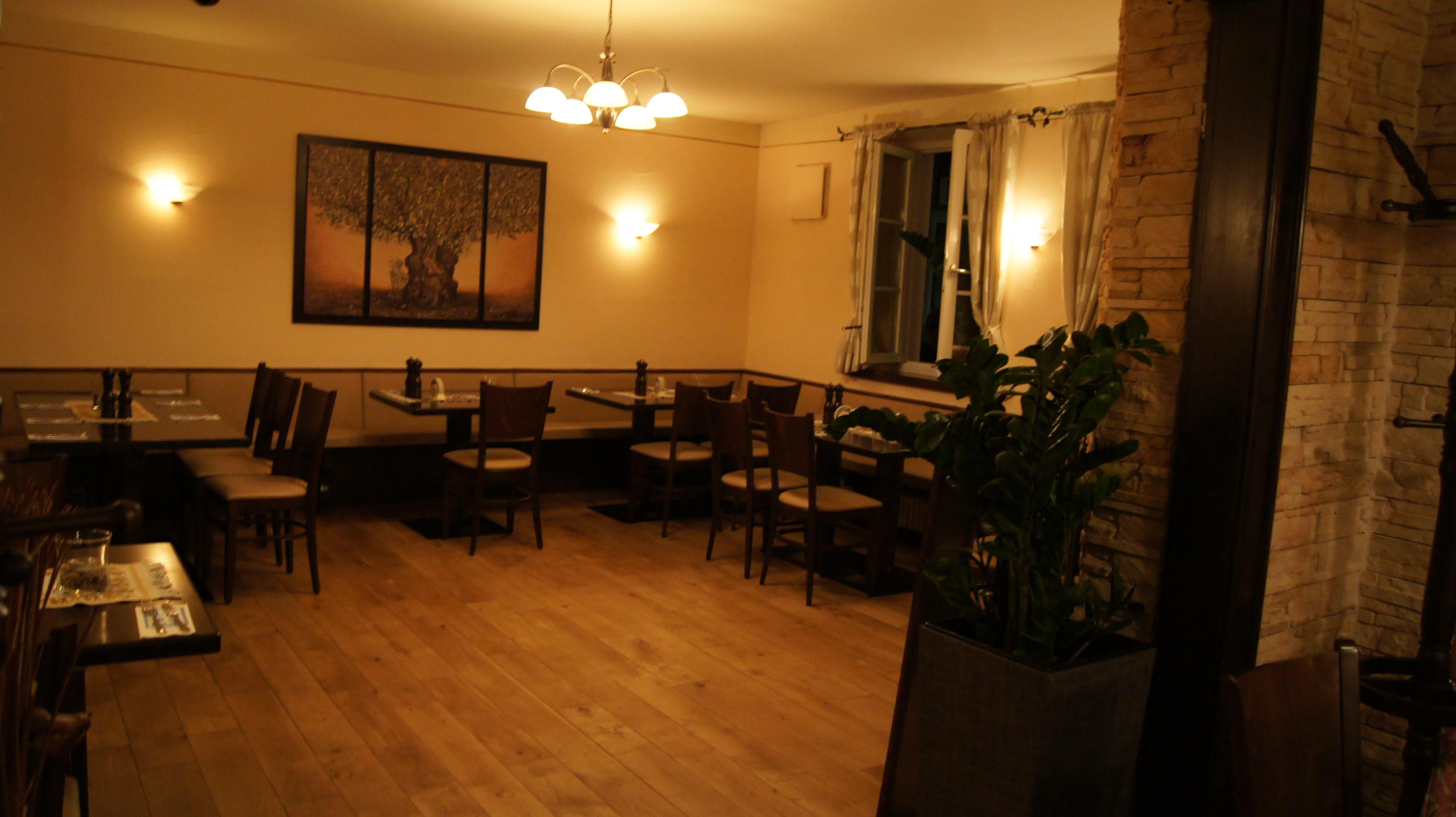 Innenraum Griechisches Restaurant Mykonos